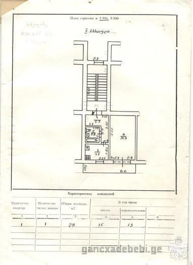 იცვლება წყალტუბოში მდებარე 1 ოთახ.ბინა ( 28კვ.მ )